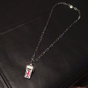 Union Jack UK Flag Whistle Necklace